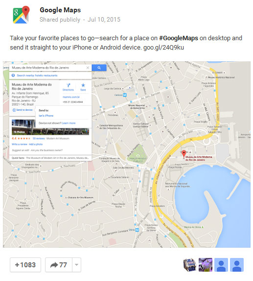 GoogleMaps share